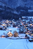 Light up of Shirakawago Royalty Free Stock Photography