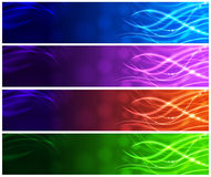 Light-Up Strands Web Banners Stock Images