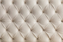Light upholstery white sofa texture, pattern background Stock Photos