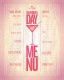 Light Valentine day menu list. Royalty Free Stock Images