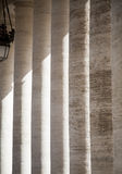 Light Through Vatican Columns Royalty Free Stock Images