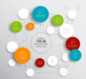 Light Vector abstract circles infographic template Stock Photos