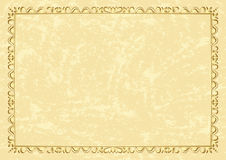 Light vector beige vintage frame Stock Photos