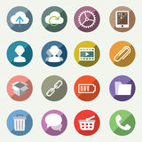 Light vector icons set Royalty Free Stock Photography