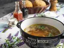 Light vegetable soup stock photos