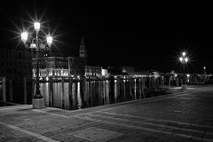 The Light of Venice Long exposure By Night. Stock Photography