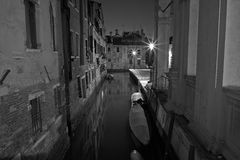 The Light of Venice Long exposure By Night. Royalty Free Stock Images