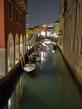 The Light of Venice Long exposure By Night. Stock Photo