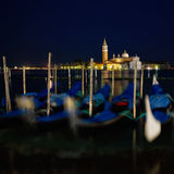 The Light of Venice Long exposure By Night. Royalty Free Stock Photography