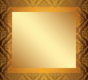 Light vintage frame with golden center - vector Royalty Free Stock Images