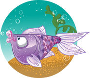 Light violet  Fish on the bacground Royalty Free Stock Photography