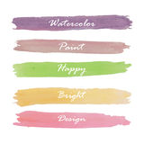 Light violet green yellow pink orange love pastel banner in vale Stock Photography