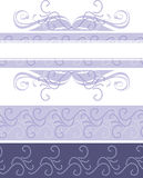 Light violet ornamental borders for design Royalty Free Stock Image