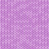 Light violet realistic simple knit texture seamless pattern. Seamless knitted pattern. Woolen cloth. Illustration for. Design, backgrounds and wallpaper. Vector Stock Photography