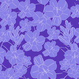 Light Violet seamless flower pattern. Vector seamless texture Stock Photos