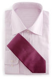 Light violet shirt and tie Stock Image