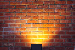 Light on the wall. Light on the colored wall texture royalty free stock photos