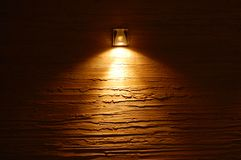 Light on the wall stock photo