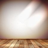 Light wall with a spot illumination. EPS 10 Royalty Free Stock Images