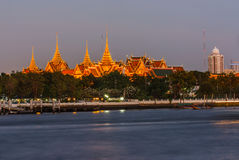The light from the Wat Phra Kaew. Stock Photos