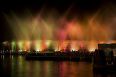 Light and Water Show Stock Image