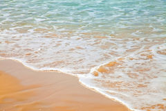 Light wave on sandy beach Stock Image