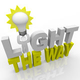 Light the Way - Leader Lights Direction Success Stock Images