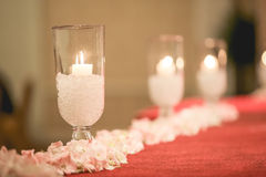 Light is the way of life. Candle stand in the wedding ceremony Royalty Free Stock Photo