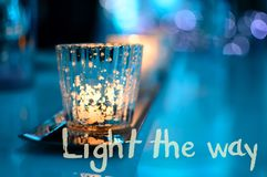 Sparkling candlelight royalty free stock photos