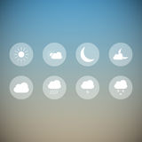 Light weather icons Stock Images
