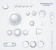 Light Web Elements: Buttons, Switchers, Player, Audio. Light Web Elements. Buttons Switchers Player Audio Vector Illustration
