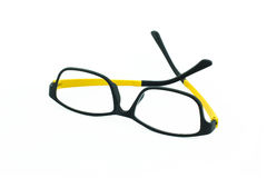 Light weight eyeglasses on white Royalty Free Stock Image