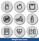 Light weight loss icons Stock Images