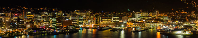 Light of Wellington City. Lights of Wellington New Zealand at night Stock Image