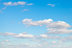 Light white clouds in blue sky Royalty Free Stock Photography