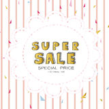 Light white gold pink sale with circle banner on valentine's day Royalty Free Stock Photos