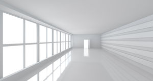 Light white room with big window Stock Photography