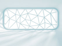 Light white room with design window. architecture background Stock Images