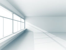 Light white room interior with big window Stock Images