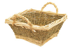 Light wicker basket Royalty Free Stock Photos