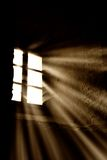 Light from the window. Light rays through the window Stock Images