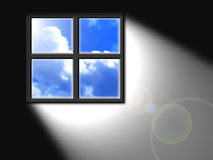 Light from window. Give you a hope Royalty Free Stock Photography