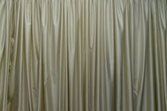 Light window decoration curtains. Copy space background Royalty Free Stock Photos