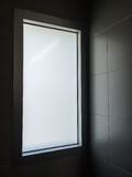 Light through window at modern restroom Royalty Free Stock Images