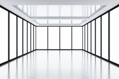 Light from windows. Modern empty room with light from windows Royalty Free Stock Photos