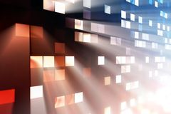 Light from windows. Bright light from windows in house Royalty Free Stock Photos