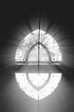 Light windows. Through the window into the holy light Royalty Free Stock Photography