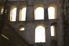 Light windows in aquaduct Royalty Free Stock Image