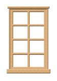 Light Wood Window. Light colored wood window illustration isolated on a white background royalty free illustration