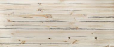 Light wooden desk background texture board table horizontal banner header design. Light beige wooden desk background tabletop horizontal photo banner for website royalty free stock images